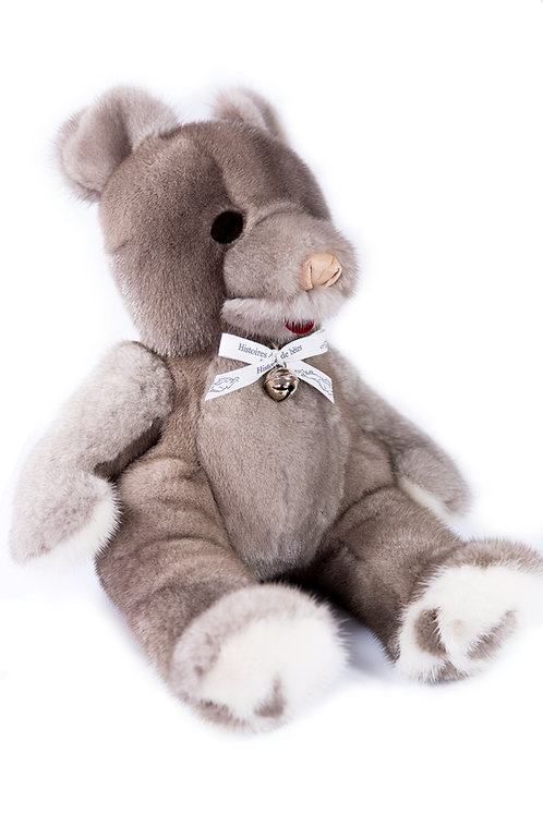 BABY TEDDY VISON - gris & blanc