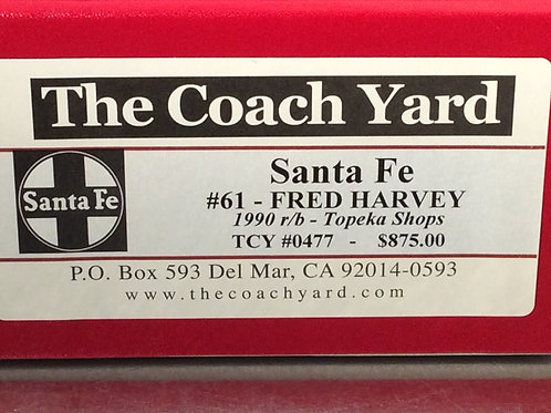 TCY SANTA FE BUSINESS #61 FRED HARVEY F/P BRAND NEW