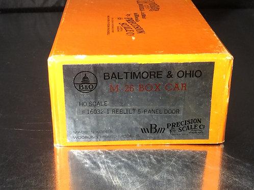 PSC BALTIMORE AND OHIO M-26 BOXCAR F/P BRAND NE
