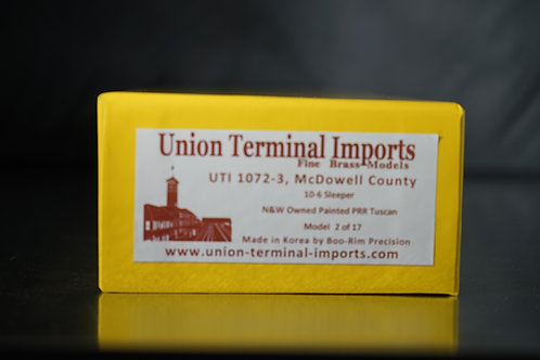 UTI NORFOLK AND WESTERN McDOWELL COUNTY FACTORY PAINTED TUSCAN BRAND NEW