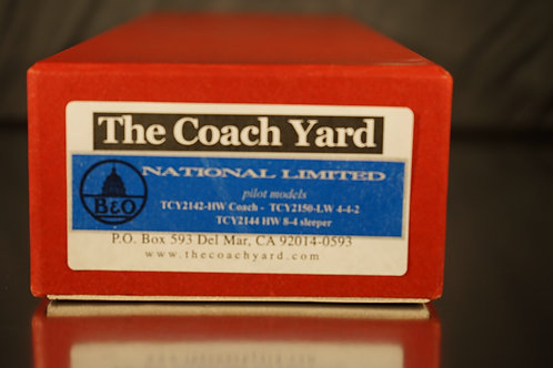 """THE COACH YARD BALTIMORE & OHIO """"NATIONAL LTD"""" NEW 2020 RESERVE NOW PILOT MODELS"""