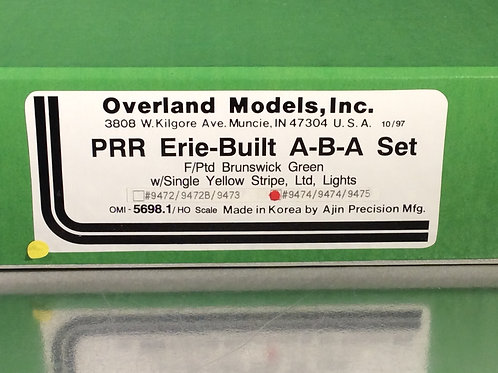 OMI PENNSYLVANIA RR ERIE BUILTS A-B-A F/P 17 OF 22 LIKE NEW