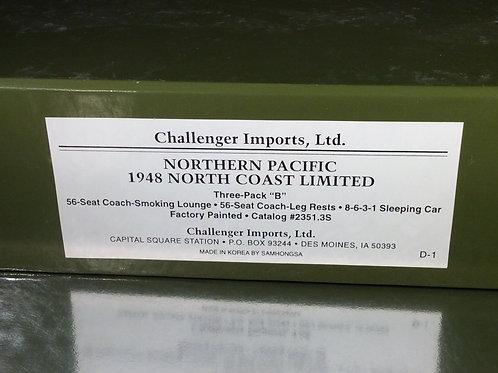 CHALLENGER NORTHERN PACIFIC B SET 3 CAR  NORTH COAST LTD. F/P BRAND NEW