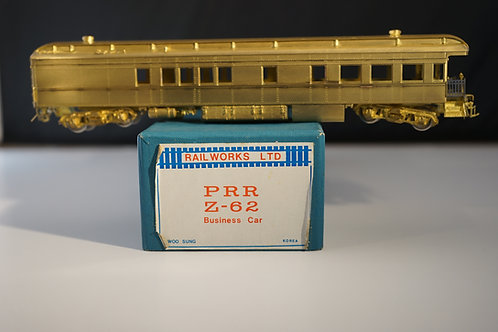 Railworks Pennsylvania Railroad Z-62 Business Car Unpainted Brand New