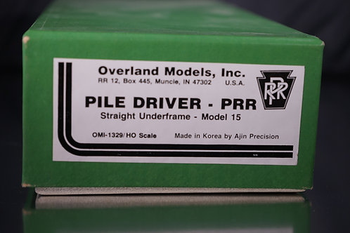 OVERLAND MODELS PENNSYLVANIA RR PILE DRIVER U/P VERY SCARCE