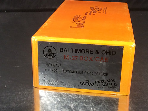 PSC BALTIMORE AND OHIO M-27 BOX CAR DBLDOOR U/P BRAND NEW