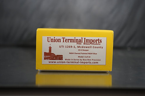 UTI NORFOLK AND WESTERN McDOWELL COUNTY FACTORY PAINTED BRAND NEW