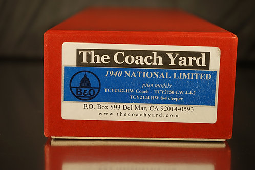 "THE COACH YARD BALTIMORE & ohio ""NATIONAL"" F/P PILOT MODELS SHOWN"