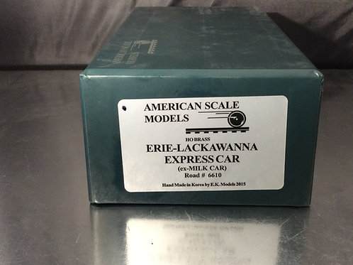 ASM ERIE LACAWANA EXPRESS CAR  EX-MILK CAR FACTORY PAINTED BRAND NEW