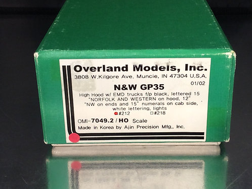 OVERLAND NORFOLK & WESTERN GP35 HH FACTORY PAINTED EXCELLENT