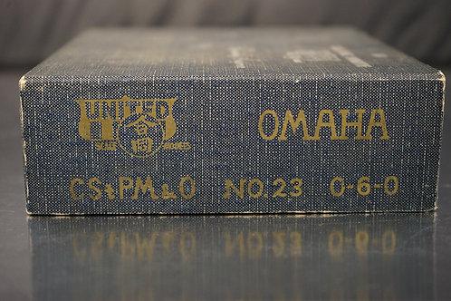 PFM CStPM&O OMAHA #23 0-6-0 UNPAINTED