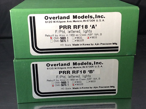 OVERLAND PENNSYLVANIA RF-18 REBUILTS DC/DCC FACTORY PAINTED EXCELLENT