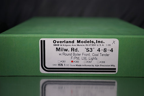 OVERLAND MILWAUKEE S-3 4-8-4 #265 FACTORY PAINTED NEW