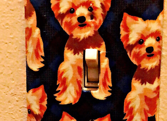 Yorkie light switch cover