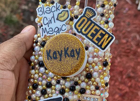 Black and gold phone case