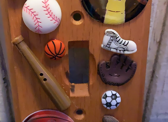 Sports theme light switch cover