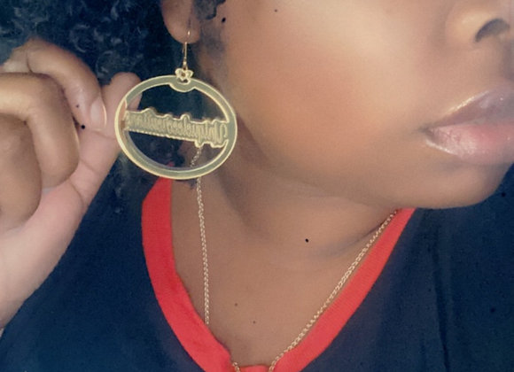 Acrylic name earrings