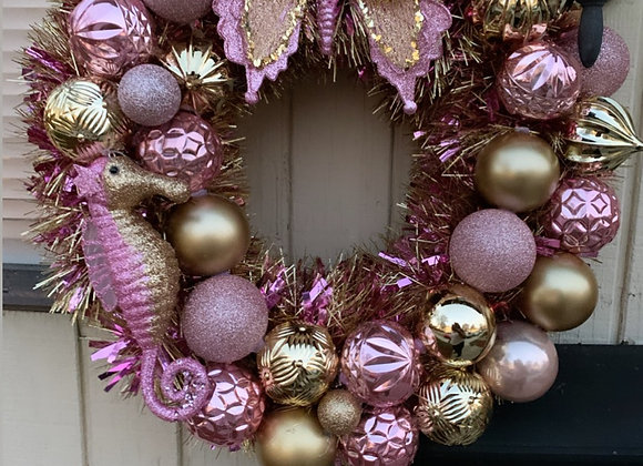 Seahorse wreath