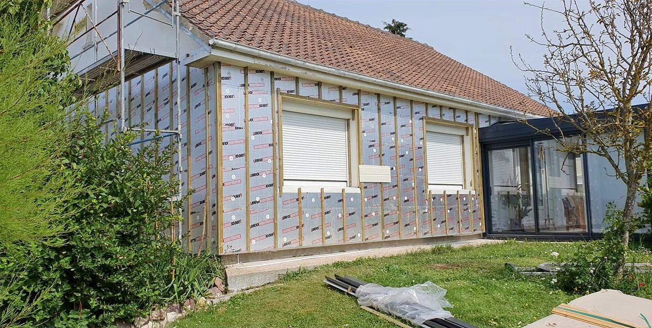 Rénovation ITE avec bardage bois 2