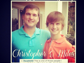 In Memory of my cousins, Christopher and Miles Waddell