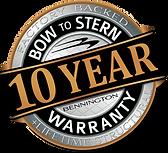10 Year Warranty Seal - Silver & Firecra