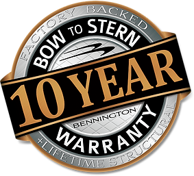 At Bennington, not only do we believe in building the highest quality pontoon boats in Australia, we back it with the industry's strongest warranty as well, providing every client with a 10-year bow-to-stern warranty.