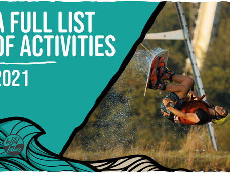 THE FULL LIST OF ACTIVITIES 2021!