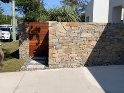 Timber Gate and Wall