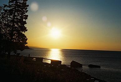 Nice Sunrise on the Dock Lake Superior M