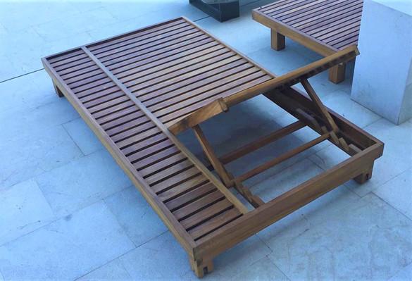 Leżak tarasowy drewno iroko