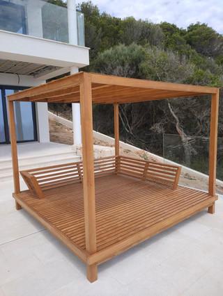 Pergola tarasowa drewno iroko