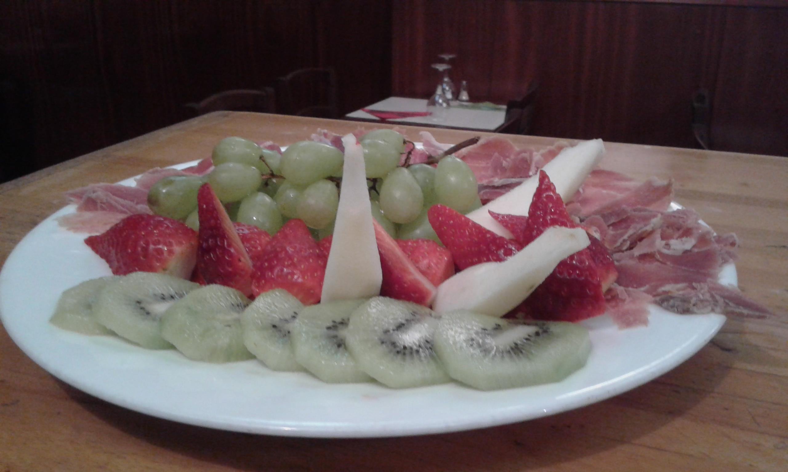 Prosciutto di Parma con fruita