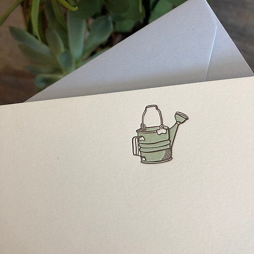 Watering Can Notecard