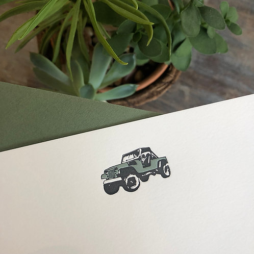Jeep Notecard