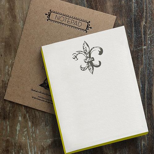 Fleur de Lis Notepad