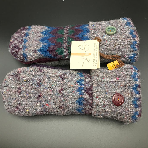 Women's Wool Grey Mittens