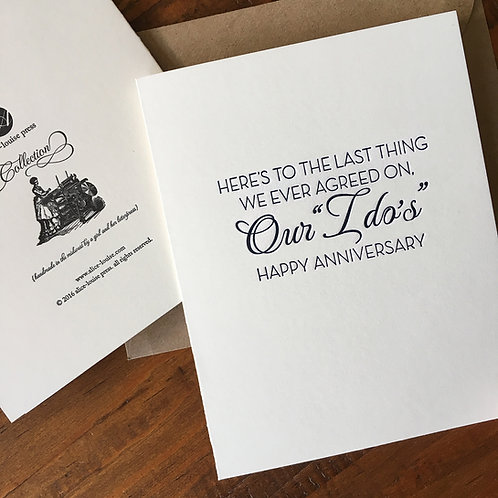 Our I Do's Card