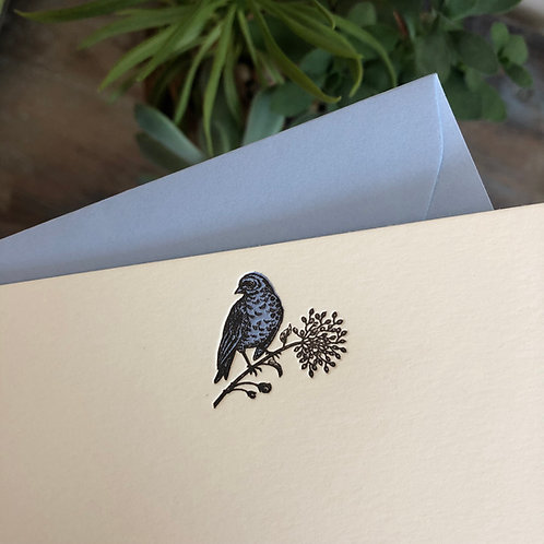 Bluebird Notecard