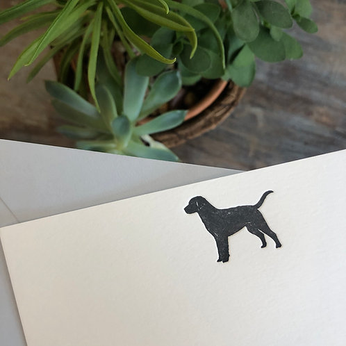 Black Lab Notecard