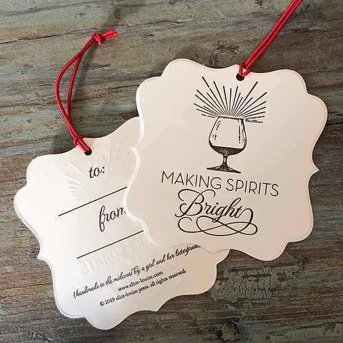 Making Spirits Bright Wine Tags