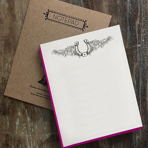 Horseshoe Notepad
