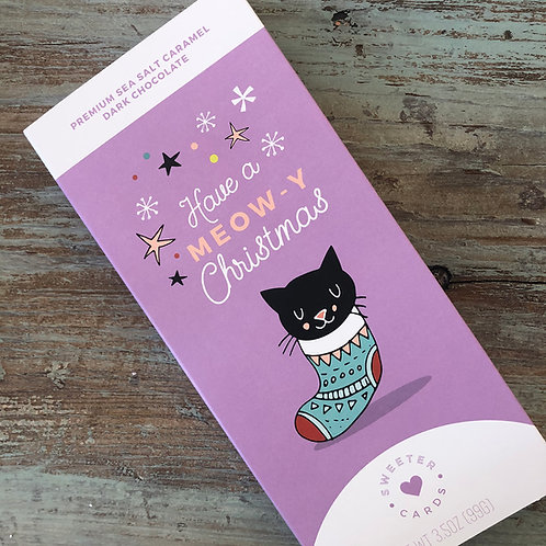 Have a Meow-y Christmas Card & Chocolate Bar in one!