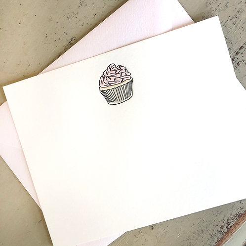 Cupcake Notecard
