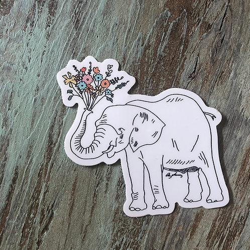 Elephant Bloom Sticker