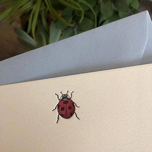 Ladybug Notecard