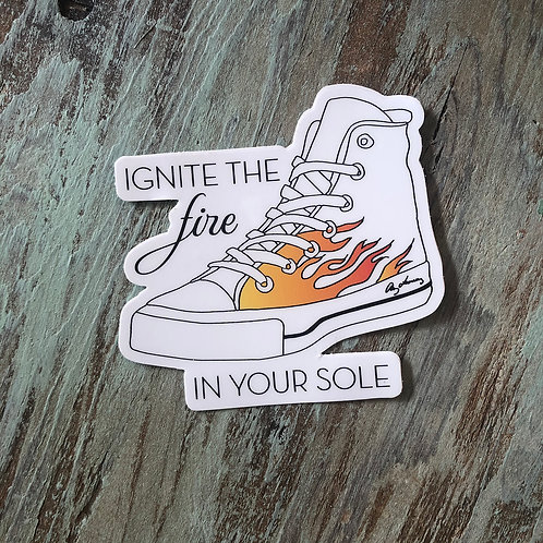 Fire Soles Sticker