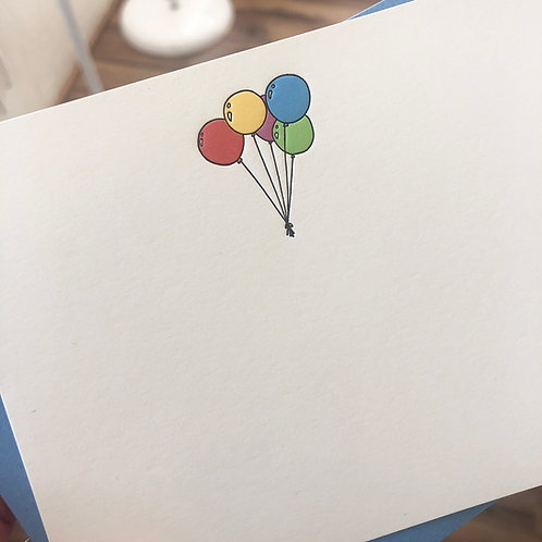 Balloons Notecard