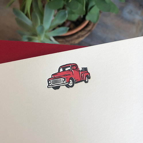 Red Truck Notecard