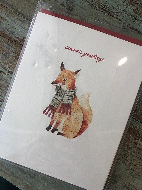 Fox Season's Greetings Card