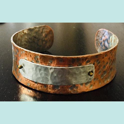 Copper/Silver Cuff
